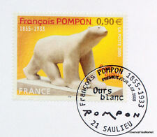 Yt 3806 OURS BLANC POMPON   FRANCE  FDC  NOTICE PHILATELIQUE  PREMIER JOUR