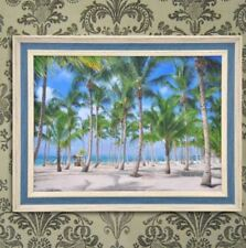 Wall Painting Picture Canvas Wooden Frame Art Modern Design -Coconut Tree