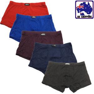 2pcs Bamboo Fiber Men's Underwear Boxer Briefs Trunks Solid Color L-XXXL CPAN844