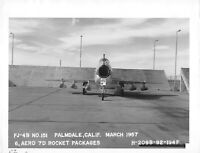 "Original Vintage 1957 Navy FJ-4B Airplane Photo 8.5"" x 11""   #66"
