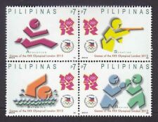 Philippine Stamps 2012 MNH London Olympics complete set