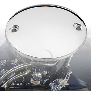 Chrome Aluminum Motor Ignition Point Cover Fit For Harley Softail FXST Road King