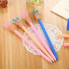 8pcs Cute Kawaii Happy Rabbit Gel Ink Roller Ball Point Pen School Kids Pens