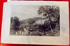 comté de Durham, le siège du marquis de Londonderry.1834 Gravé par Thomas Allom