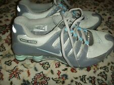 NIKE SHOX NZ GREY SILVER LIGHT BLUE 314561-001 Womens Size 8
