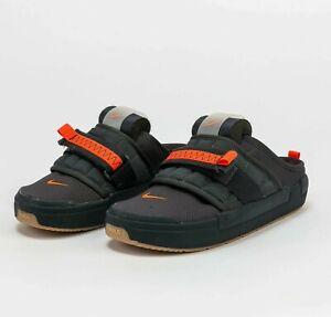 Nike Offline Mule Anthracite Electro Orange CJ0693-003 Shoes Slip On Sneakers
