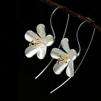 Fashion Daisy Flowers Tassels Earring Female Silver Anti-Allergy Jewelry Hot
