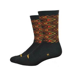 Defeet Thermeator 6 Inch Sharpened Bicycle Cycle Bike Socks Black / Red / Yellow