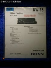Sony Service Manual NW E5 Network Walkman (#5985)