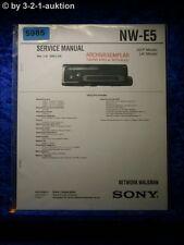 Sony Service Manual NW E5 Network Walkman (#5985)
