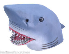 Great White Pointer Blue Bull Man Eating Shark Latex Mask Jaws Fancy Dress