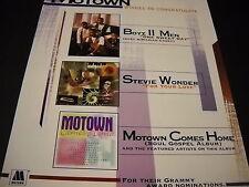Motown congratulates Boyz Ii Men and Stevie Wonder 1996 Promo Poster Ad