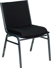 Lot of 8 Heavy Duty Black Fabric Stack Office Guest Chairs