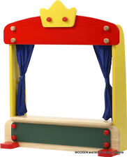 VOILA TOY childs wooden toy TABLE-TOP puppet THEATRE blackboard pretend play NEW