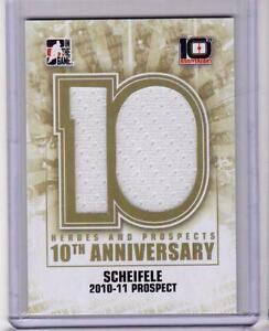 MARK SCHEIFELE 13/14 ITG H&P 10th Anniversary Tribute HUGE Game-Used Jersey #51