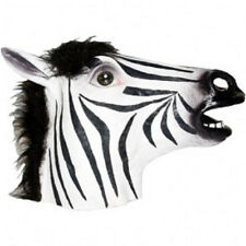 Adult Latex Costume Africa Zebra Horse Jungle Halloween Mask