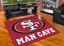 "San Francisco 49ers Man Cave 34""x43"" All-Star Area Rug Mat"