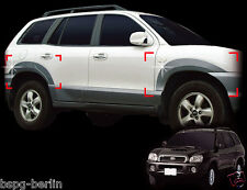 Zubehör für Hyundai Santa Fe bis 2006 Radlaufleisten in Silber Fender Molding