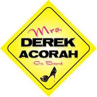Mrs Derek Acorah On Board Novelty Car Sign