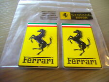 2 x Adesivi Sticker Ferrari Originale Official Nuovo 84 x 53 mm decal adhesivo