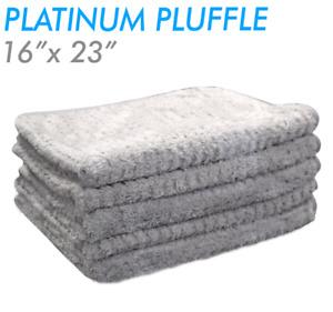 THE RAG COMPANY PLATINUM PLUFFLE 16 X 23 HYBRID WEAVE MICROFIBER TOWEL