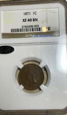 1871 Indian Cent NGC XF40 SEMI KEY DATE