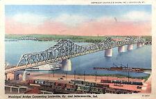 Vintage Postcard of Municipal Bridge, Louisville, KY; Jeffersonville, IN ca 1952