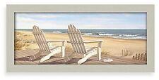 Hampton Beach Chair Wall Art Home Hanging Decor Framed Picture Canvas Piece