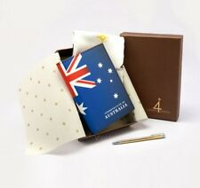 Happy4Earth Proud  Australia Passport Case Package ID Card Holder Italy Leather