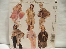 McCall's #4719 Misses' Capelets Wraps and Shawl Lined/ Unlined Pattern Sz XS-Md