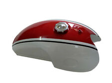 Benelli Mojave Cafe Racer 260 360 Petrol Fuel Tank White & Red Paint