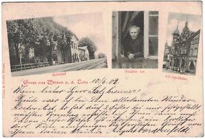 Alte Gruss aus Winsen a. d. Luhe, gel. 1902, Bahnhof, Ast-Apotheke, Schäfer Ast