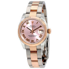 Rolex Datejust Pink Dial Steel and 18K Everose Gold Automatic Ladies Watch