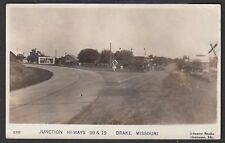 RPPC Junction Hi-Ways US 50 & Mo. 19 Drake Missouri 1941 Schuster Studio Hermann