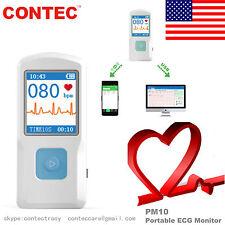 Bluetooth USB Handheld ECG Machine EKG Heart Rate Monitor Electrocardiograph,USA