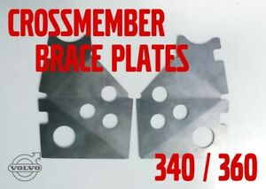 Volvo 343 340 360 front crossmember weld-in reinforcing brace plates