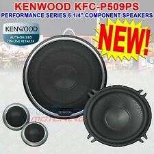 "KENWOOD KFC-P509PS PERFORMANCE SERIES 5-1/4"" COMPONENT SPEAKER SYSTEM 240W PEAK"