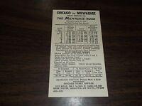 APRIL 1965 MILWAUKEE ROAD CHICAGO-MILWAUKEE PUBLIC TIMETABLE CARD