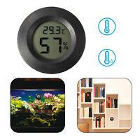 Black Digital Cigar Thermometer Hygrometer Humidity Monitor Meter For Humidor