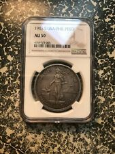 1903-S U.S. Philippines 1 Peso NGC AU50 Lot#PJ86 Silver!