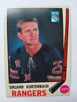 1969-70 OPC O-Pee-Chee #188 Orland Kurtenbach New York Rangers - EXMT