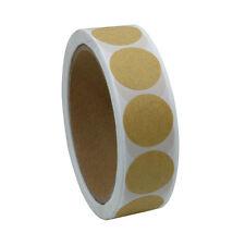 1 inch Round Kraft Paper Sticker Packaging Seals Labels 10 Rolls(5,000 labels)
