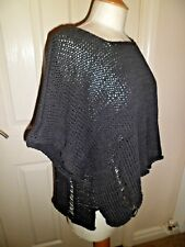 Unusual & Quirky Barbara Speer Black Cropped Jumper with Pin Size 2 Worn Once