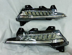 Porsche OEM 991 911 Carrera 4S S Targa GT3 LED Black-Line Foglamp Pair Brand New