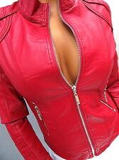 JACKE BIKER DAMEN LUXUS NEU 2018 Kurzjacke Q64 Women Jacket Top Blazer Coat XL