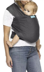 MOBY Evolution Baby Wrap Carrier Classic On The Go Mom  Charcoal New