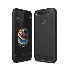 Xiaomi Mi A1 Handy Hülle Carbon farben Cover Silikon Case Handyhülle Schutzhülle