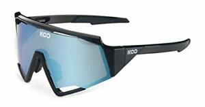KOO Spectro Cycling Sunglasses Black / Turquoise Mirror Lenses