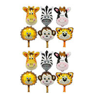 12 Set Lovely Zoo Animal Face Foil Balloon Kids Toy Birthday Party Decor