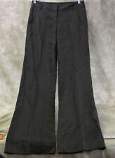 NWT Theory Caren Amigo Women's Wide Leg Black Pinstriped Dress Pants Size 2  ANB